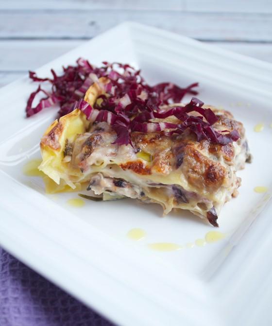 Lasagne con porcini e radicchio rosso 3