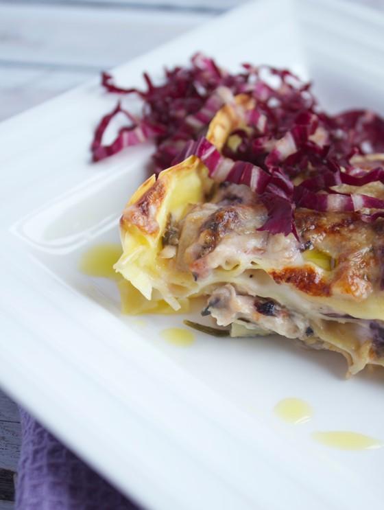 Lasagne con porcini e radicchio rosso 4