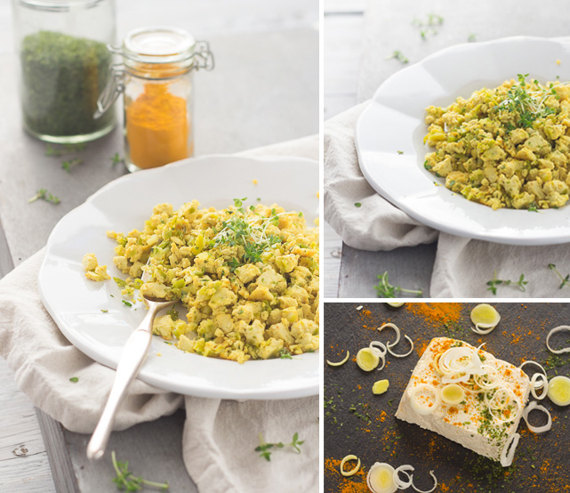 LatoKitchen.ricetta vegan.Tofu strapazzato tris